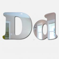 Bubble Letter D Mirror