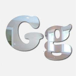 Bubble Letter G Mirror