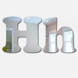 Bubble Letter H Mirror